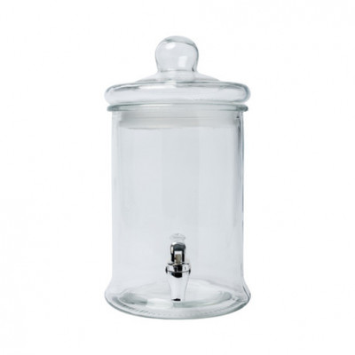 Limonadier en verre 5 litres.