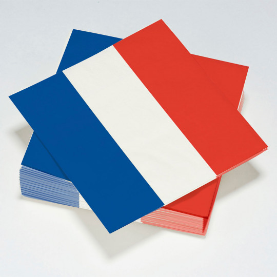 Serviettes de table FRANCE 2 plis.