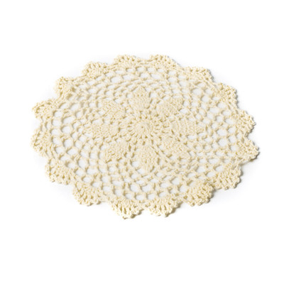 Napperon au crochet ivoire de 20 cm
