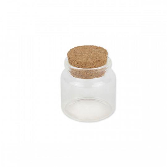Petite fiole en verre et bouchon de liège.