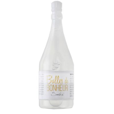 Bouteille de champagne bulles savon.