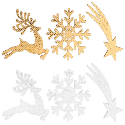 Assortiment de sujets Esprit de Noël or en bois