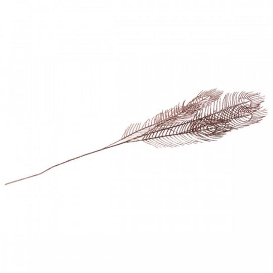 Branche 5 plumes de paon paillettes