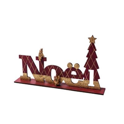 Centre de table mot Noël en bois.