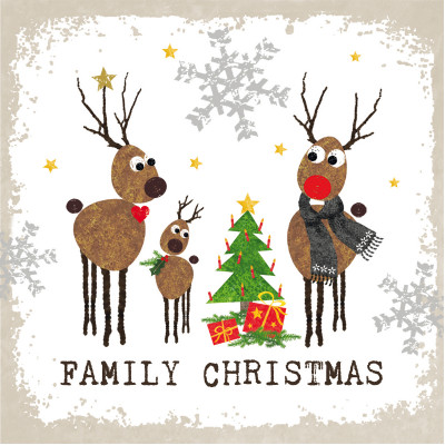 Serviette de table FAMILY CHRISTMAS