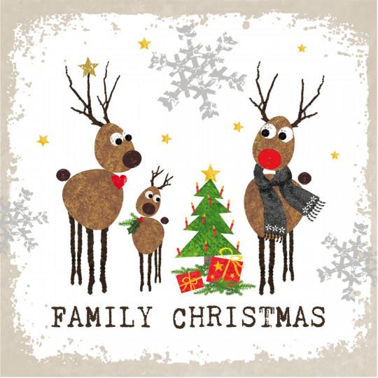 Serviette de table FAMILY CHRISTMAS