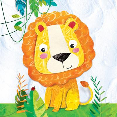 Serviette de table HAPPY LION