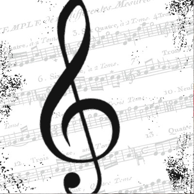 Serviette de table I LOVE MUSIC