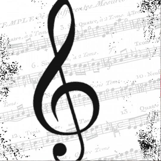 Serviette de table I LOVE MUSIC
