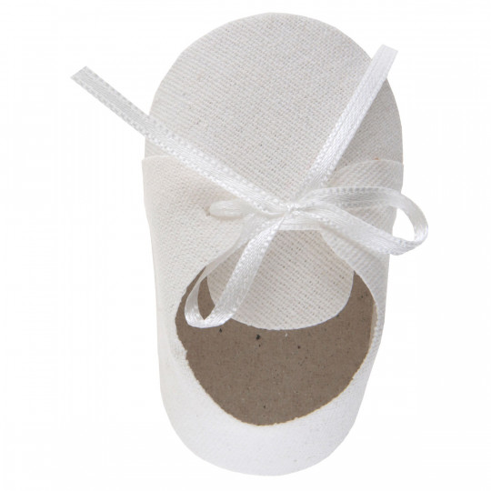 Sachet de 4 Chaussons lin blanc