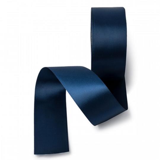 Ruban satin double face bleu marine 38 mm x 20 m