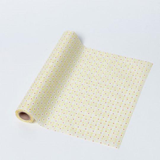 Chemin de table tissu jaune petites fleurs