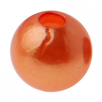 Perles rondes oranges.