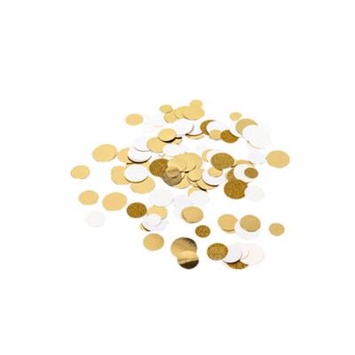 Sachet confettis ivoire, paillettes et or