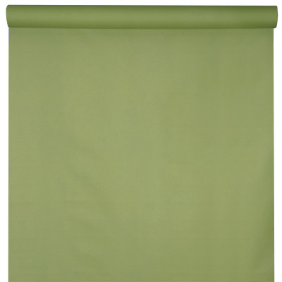 Nappe vert olive rouleau 10m jetable