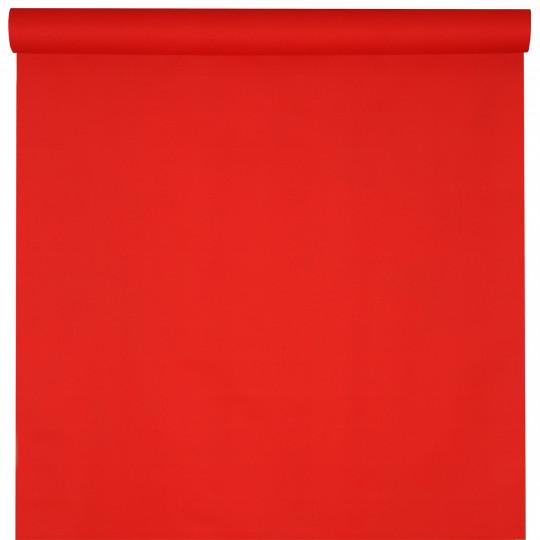 Nappe rouge éclatant rouleau 25m jetable