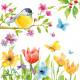 Serviette de table SPRING BIRD