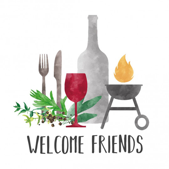 Serviette de table GRILL & FRIENDS