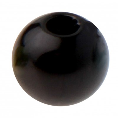 Perles rondes noires.