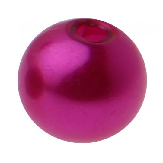 Perles rondes fuchsia.