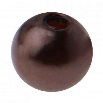 Perles rondes chocolat.