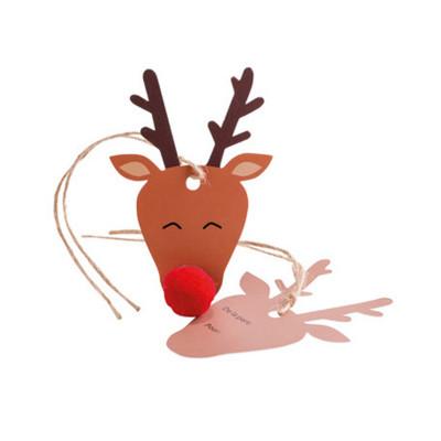 8 Marque-places ou étiquettes cadeaux RUDOLPH le renne!