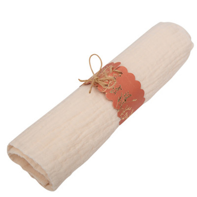 10 Ronds de serviette terracota et brindilles or