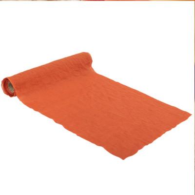 Chemin de table mousseline Orange brulé