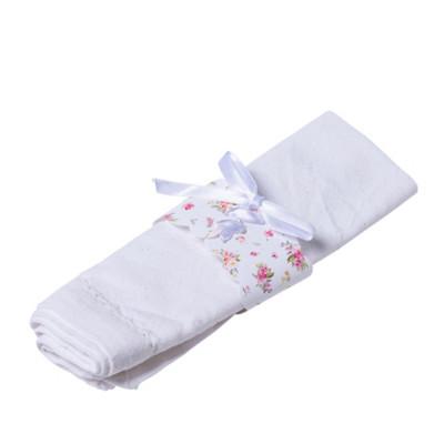 10 Ronds de serviette aquarelle et ruban de satin