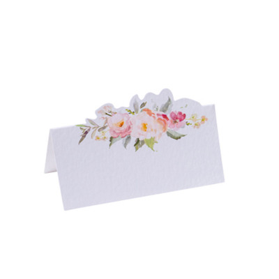10 Marque-places aquarelle papier texturé