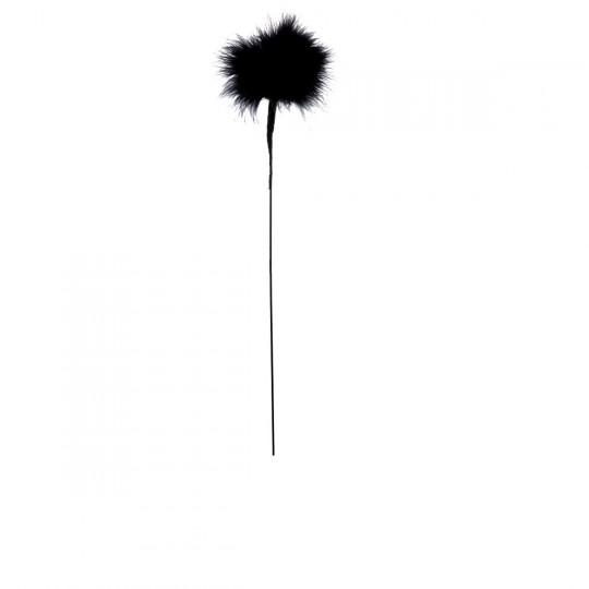 Plume duvet pomponnette noire.
