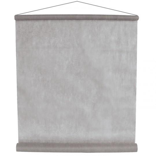 Tenture grise pour la salle en intissé polyester.