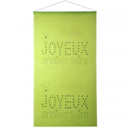 Kakémono vert motif joyeux anniversaire