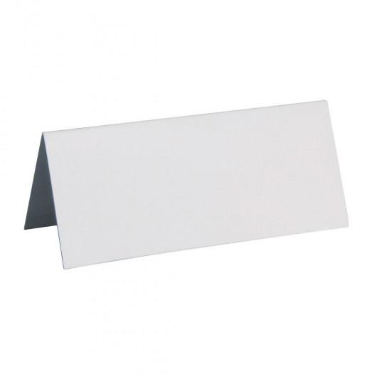 Marque place blanc rectangle, en carton.