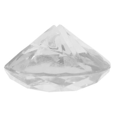 Marque-place diamant transparent et étincelant.