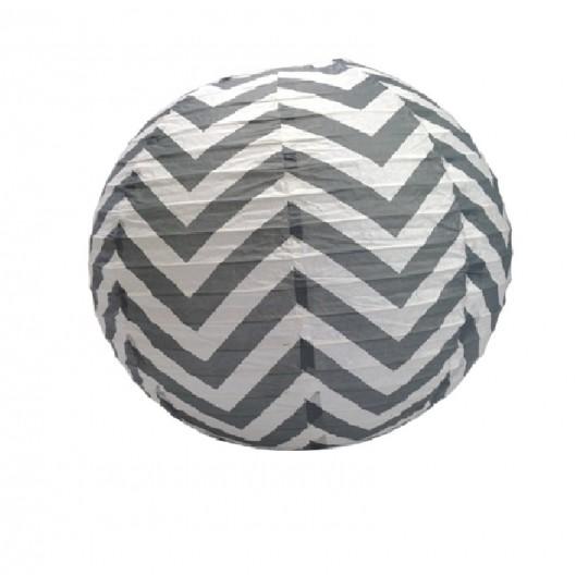 Boule japonaise décor chevron grise