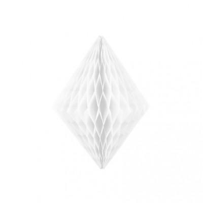 Lampion losange alvéolé blanc
