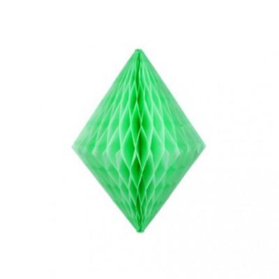 Lampion losange alvéolé vert