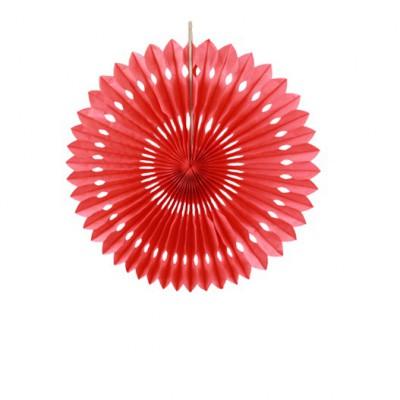 Rosace ronde rouge 30cm.