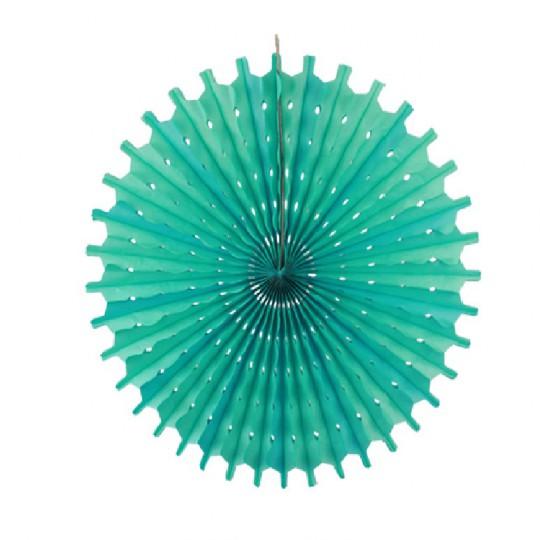 Rosace ronde vert d'eau 30cm.