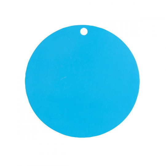 Marque place rond turquoise.
