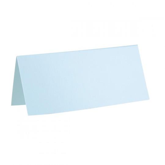 Marque place bleu ciel rectangle, en carton.