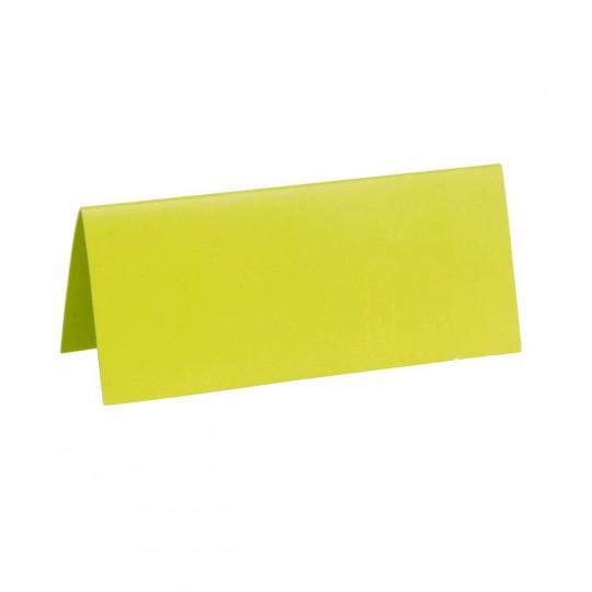 Marque place vert rectangle, en carton.