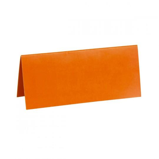 Marque place orange rectangle, en carton.