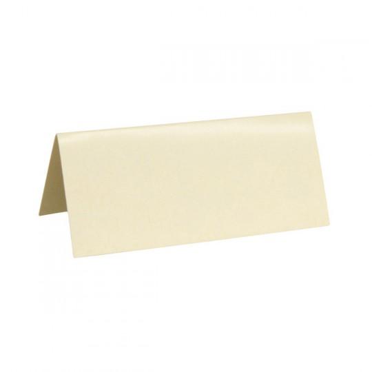 Marque place ivoire rectangle, en carton.