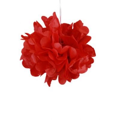 Pompons rouge 30cm x 2