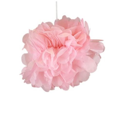 Pompons rose 30cm x 2