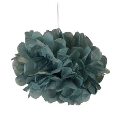 Pompons gris 30cm x 2