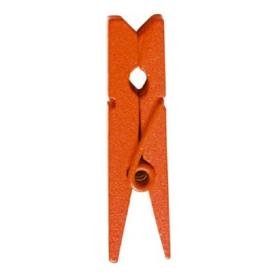 Mini pinces oranges en bois